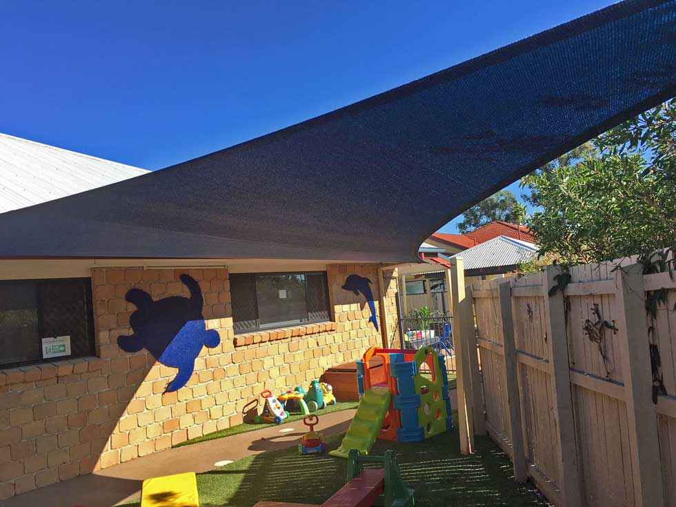 Child care centre shade sail