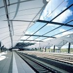 Verseidag TXA-F Train Station Shade Sails