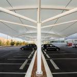 Car Park PVC Double Cantilever Structure
